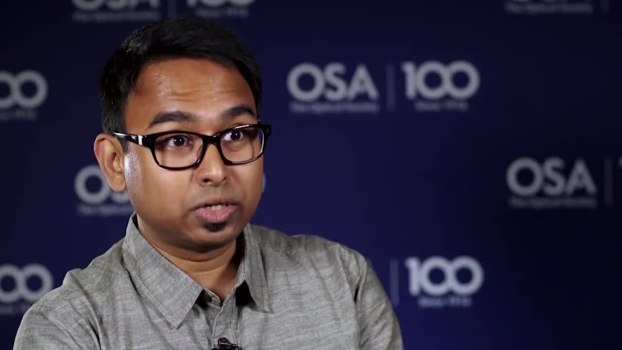Iman Kundu talks about the importance of getting young kids interested in science--OSA Stories