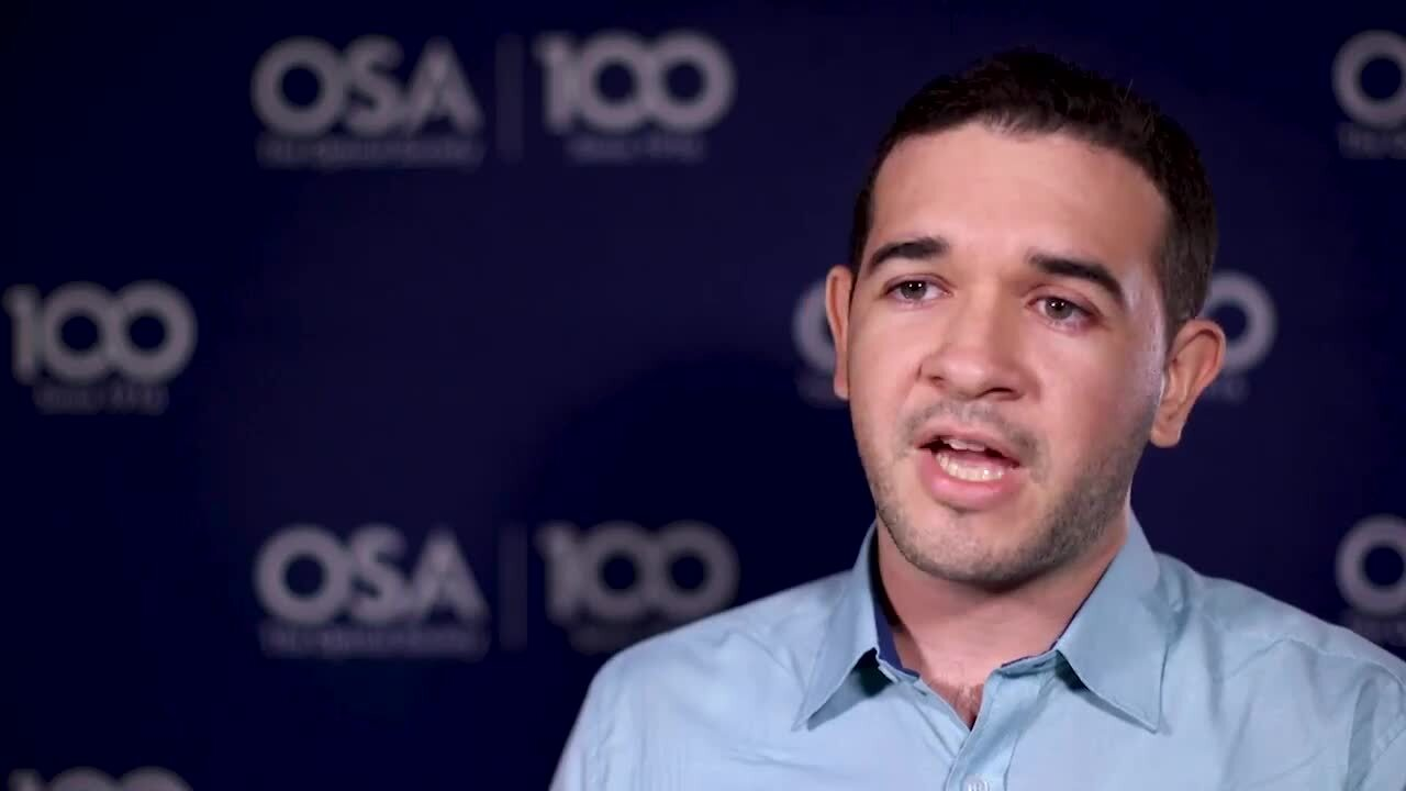 Andres Marrugo talks about attending LAOP--OSA Stories