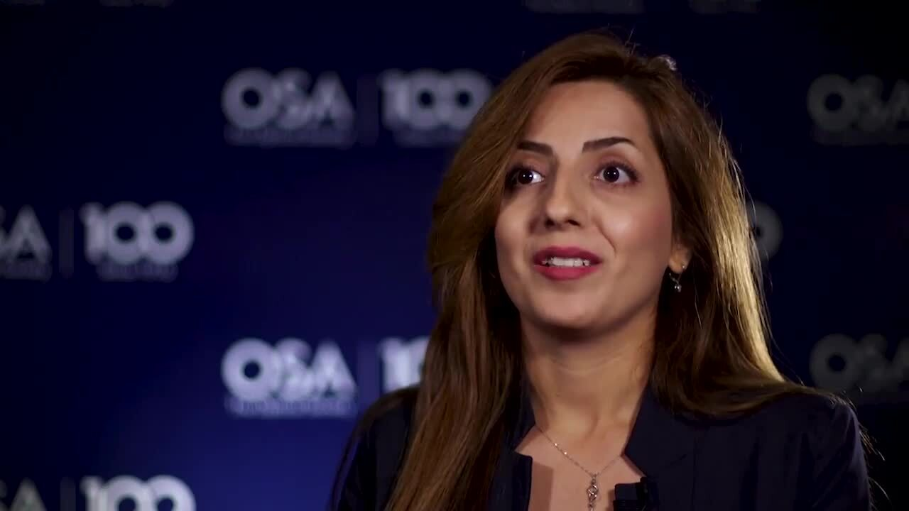 Aysan Bahari talks about why she decided on optics--OSA Stories
