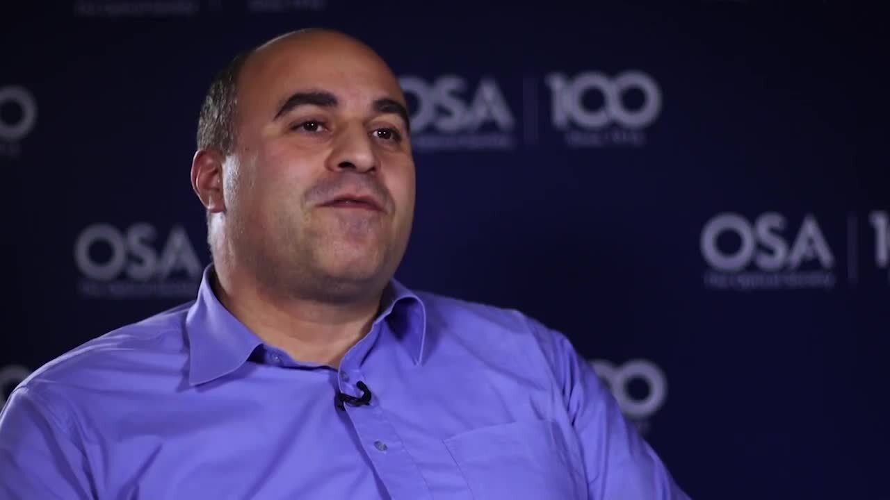 Stavros Iezekiel discusses what he likes most about his work--OSA Stories