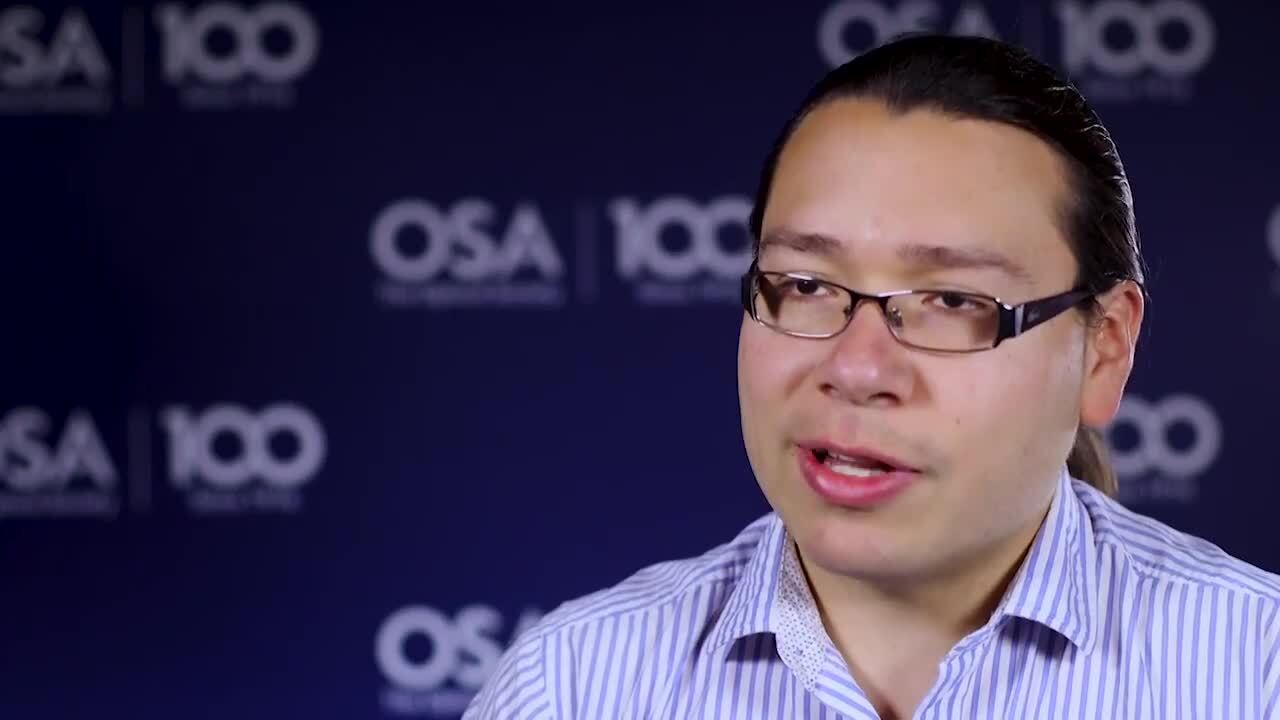 Alfonso Isaac Jaimes-Najera talks how he came to work in optics--OSA Stories