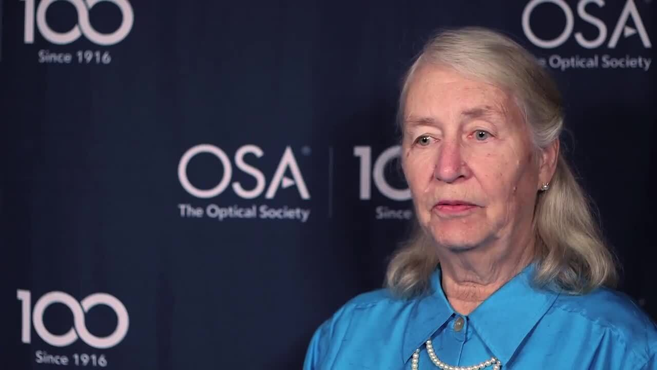 Elsa Garmire reflects on the unlikely way Charles Townes became her advisor--OSA Stories
