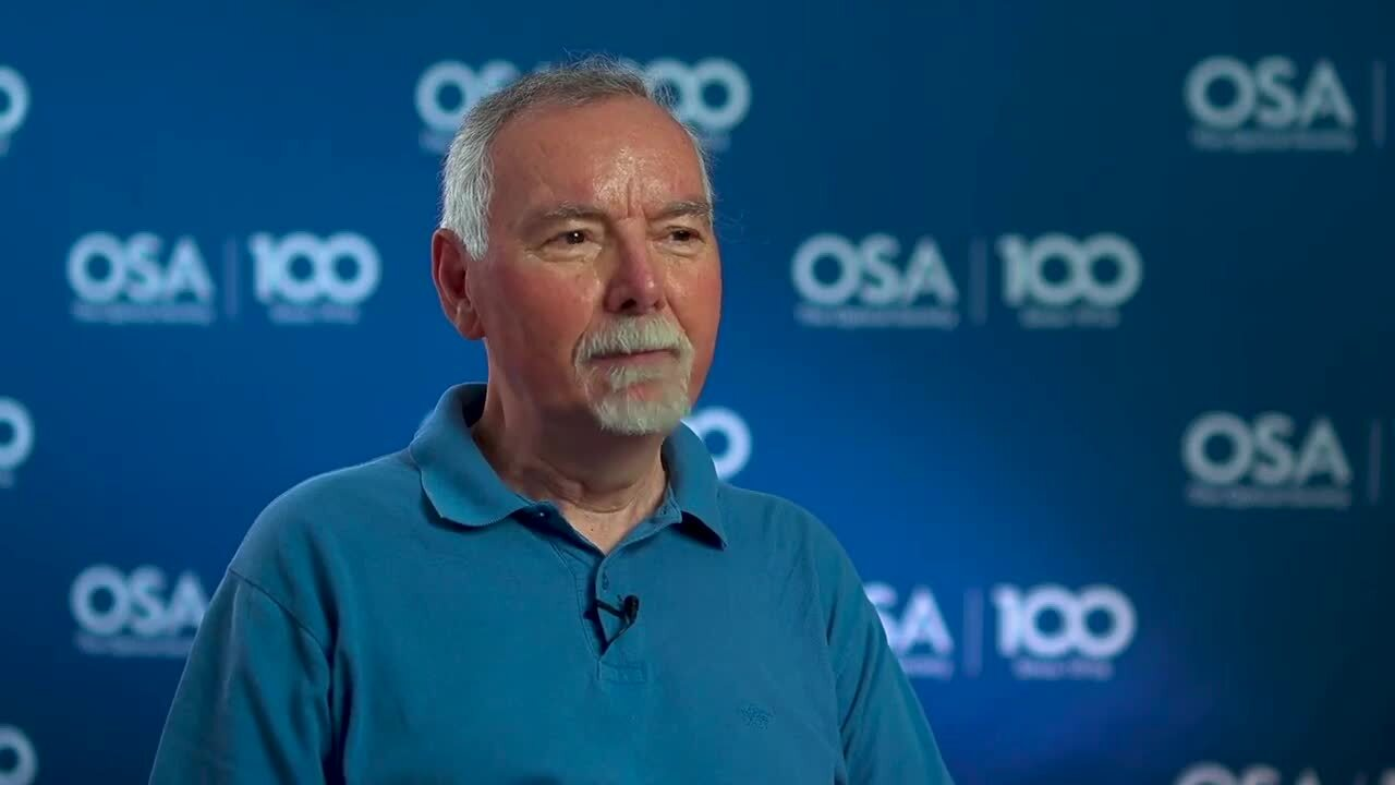 Giancarlo Righini shares how he decided on optics--OSA Stories