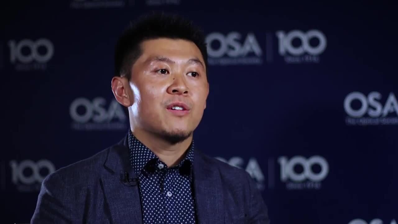 Xiaodan Pang talks about being an OIDA member--OSA Stories