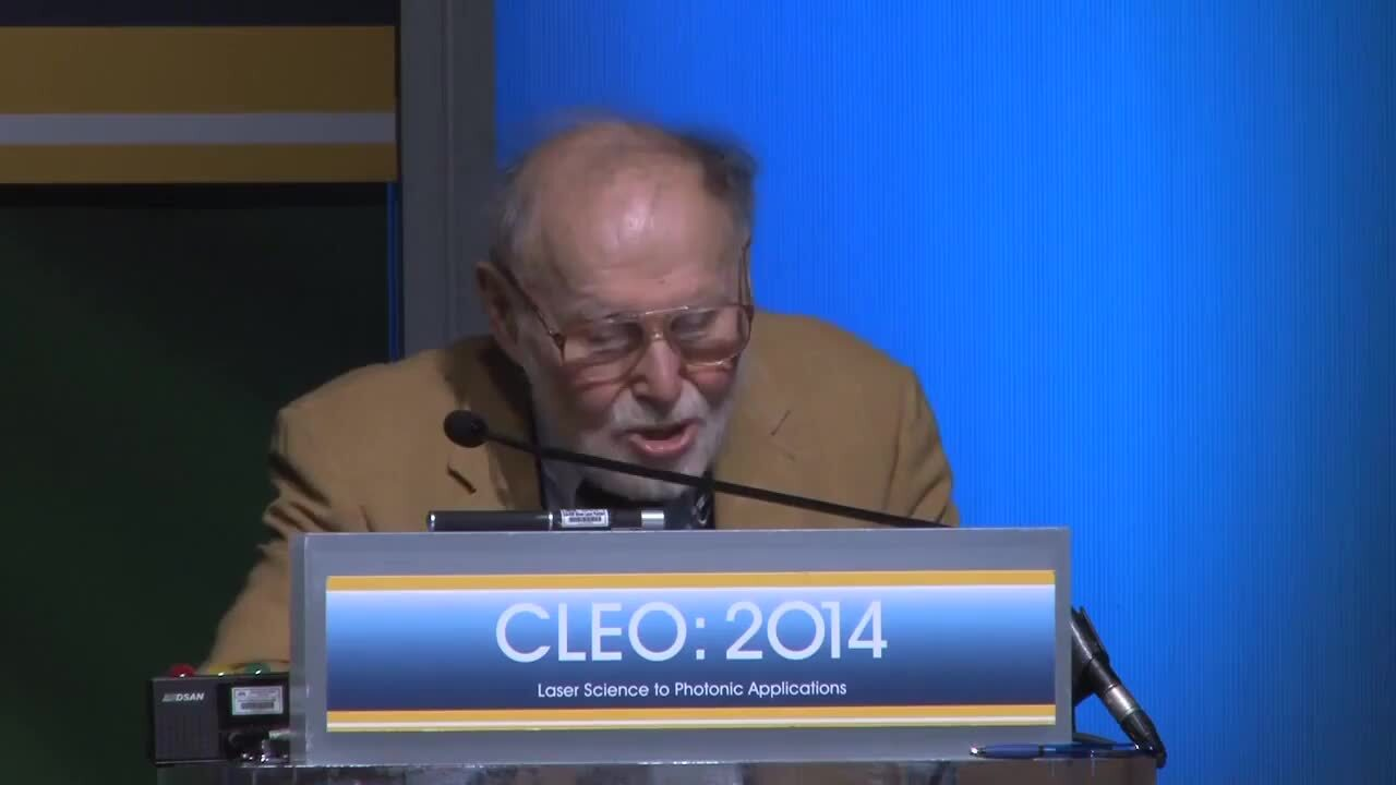 Arthur Ashkin - James P. Gordon Symposium CLEO 2014
