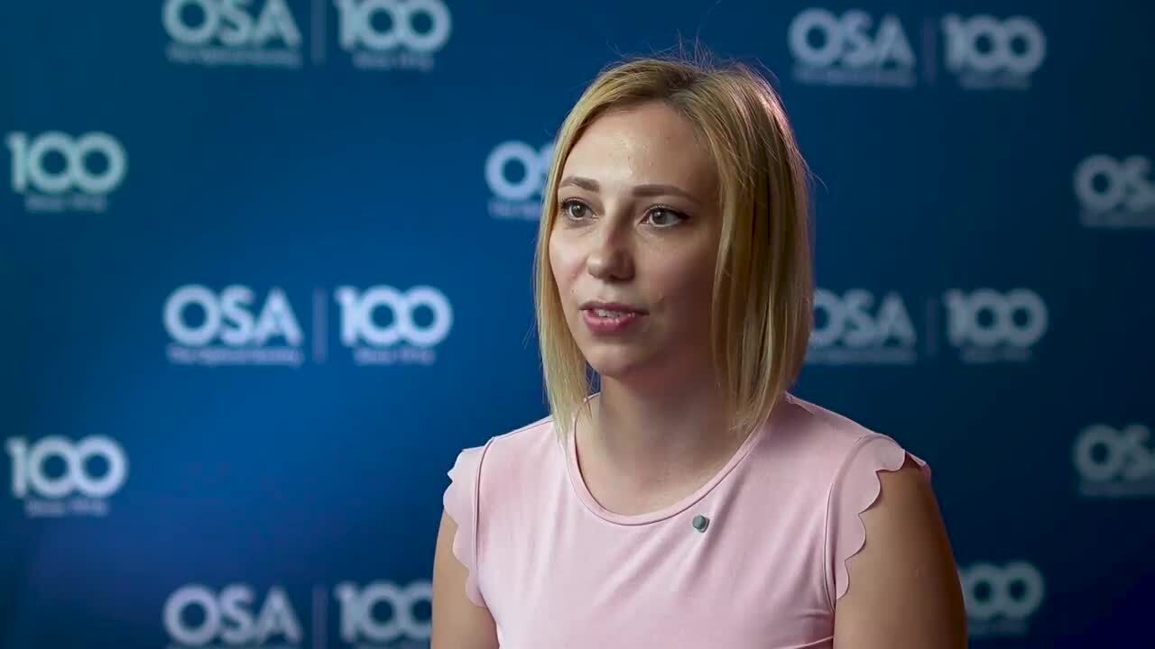 Maria Chernysheva talks about her work with lasers--OSA Stories