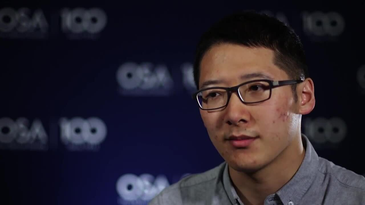 Hong-qian Cao discusses his research at Nanjing University--OSA Stories