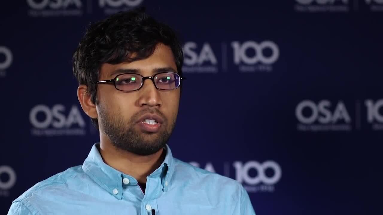 Kumel Kagalwala talks about his research in quantum--OSA Stories