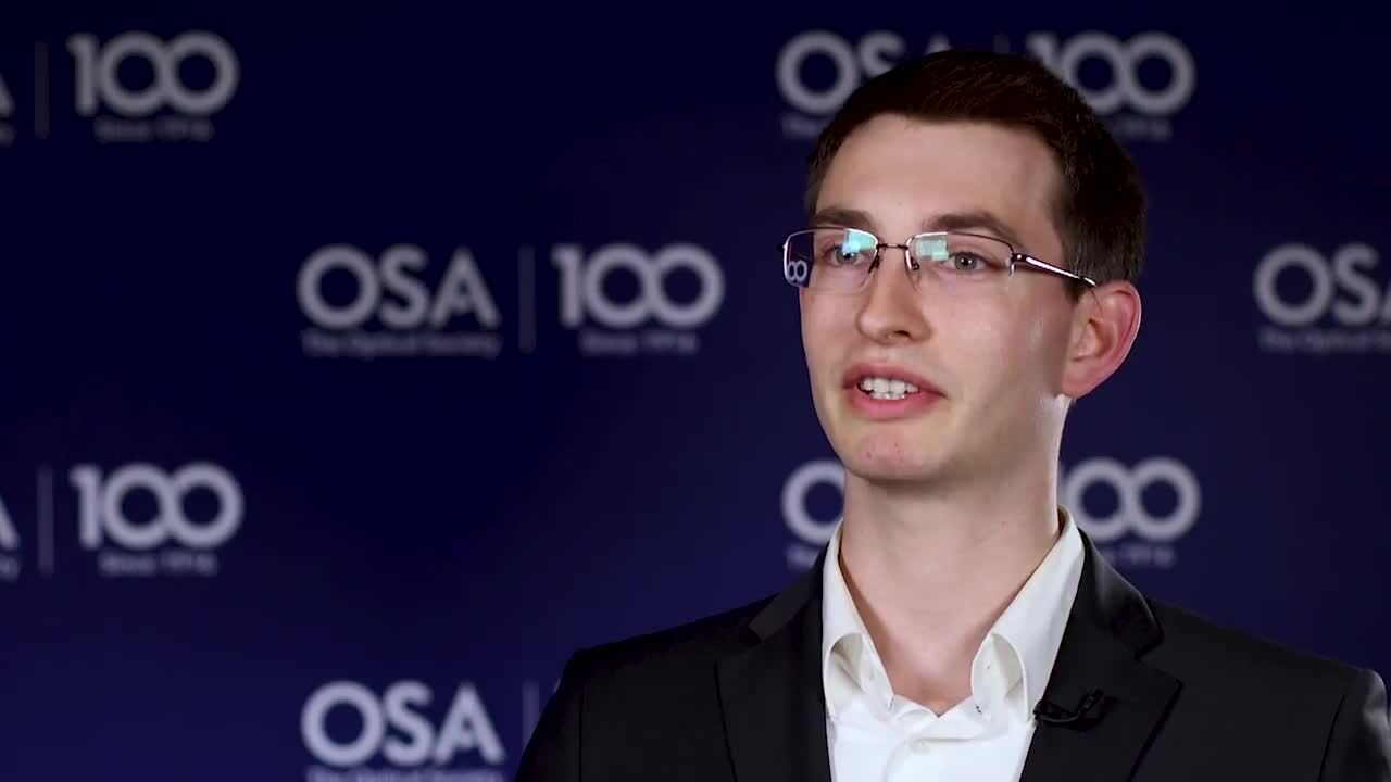 Jonas Kapraun discusses the work going on in his lab--OSA Stories