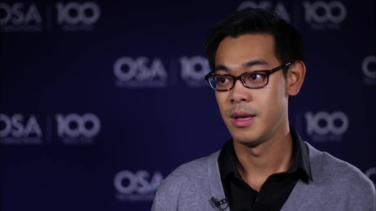 Kenny Hey Tow shares how he ended up studying optics--OSA Stories