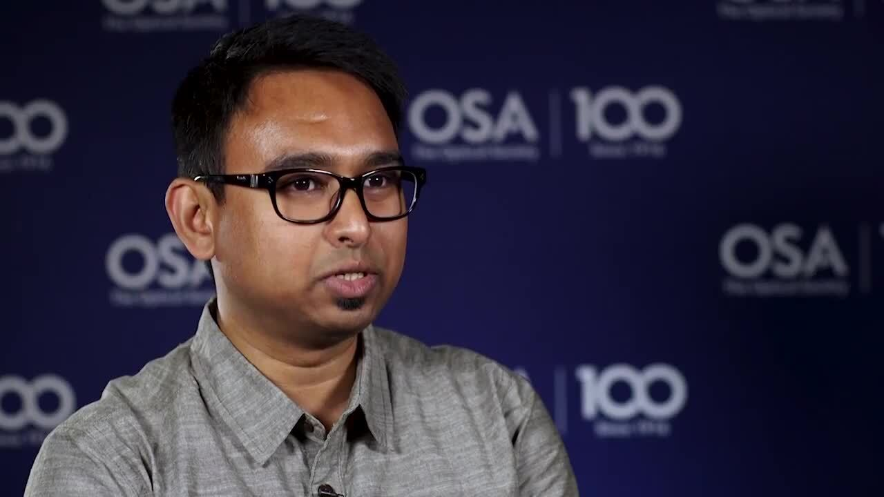 Iman Kundu shares what his research group is working on--OSA Stories