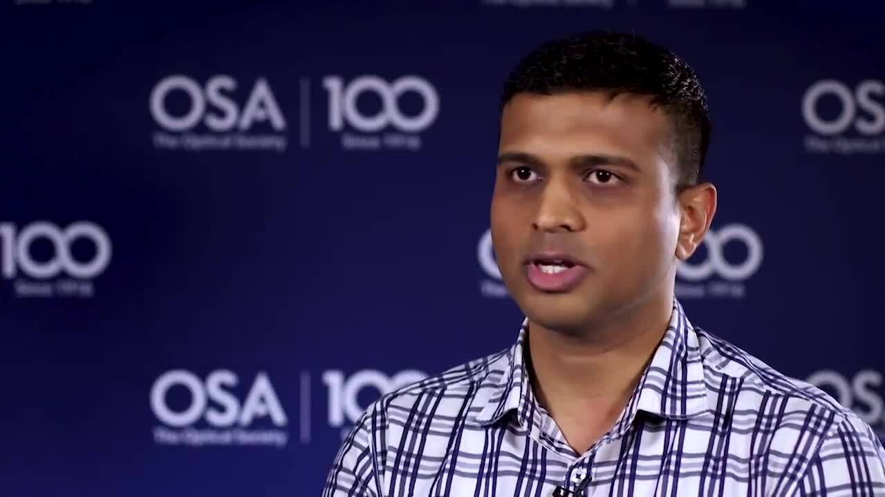 Mohiyuddin Kazi discusses his research at the University of Tokyo--OSA Stories
