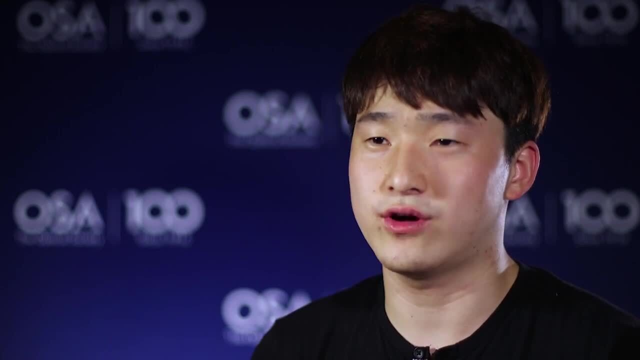 Hyun Myung Kim talks about the impact of being a finalist in the Student Grand Challenge--OSA Stories