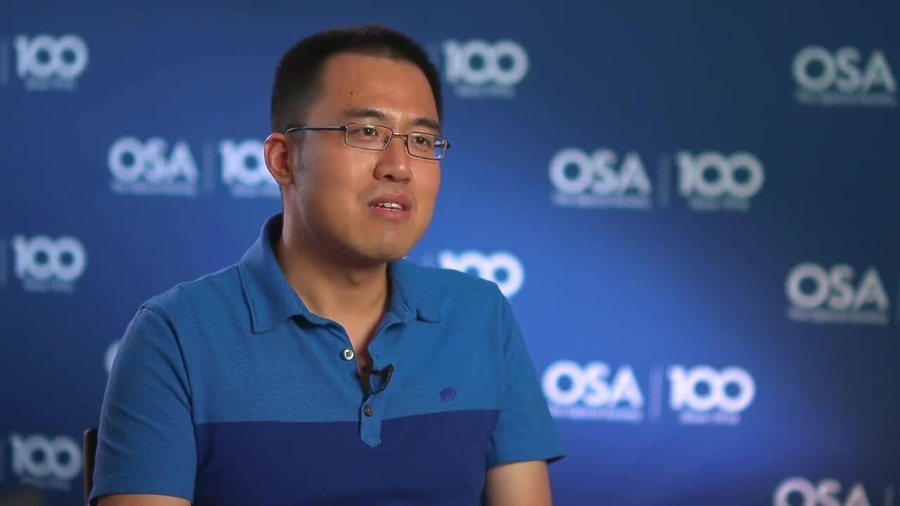 Hairun Guo recalls why he chose optics--OSA Stories