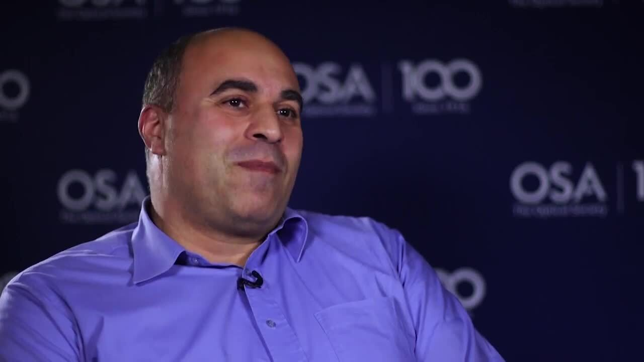 Stavros Iezekiel shares his path into optics--OSA Stories