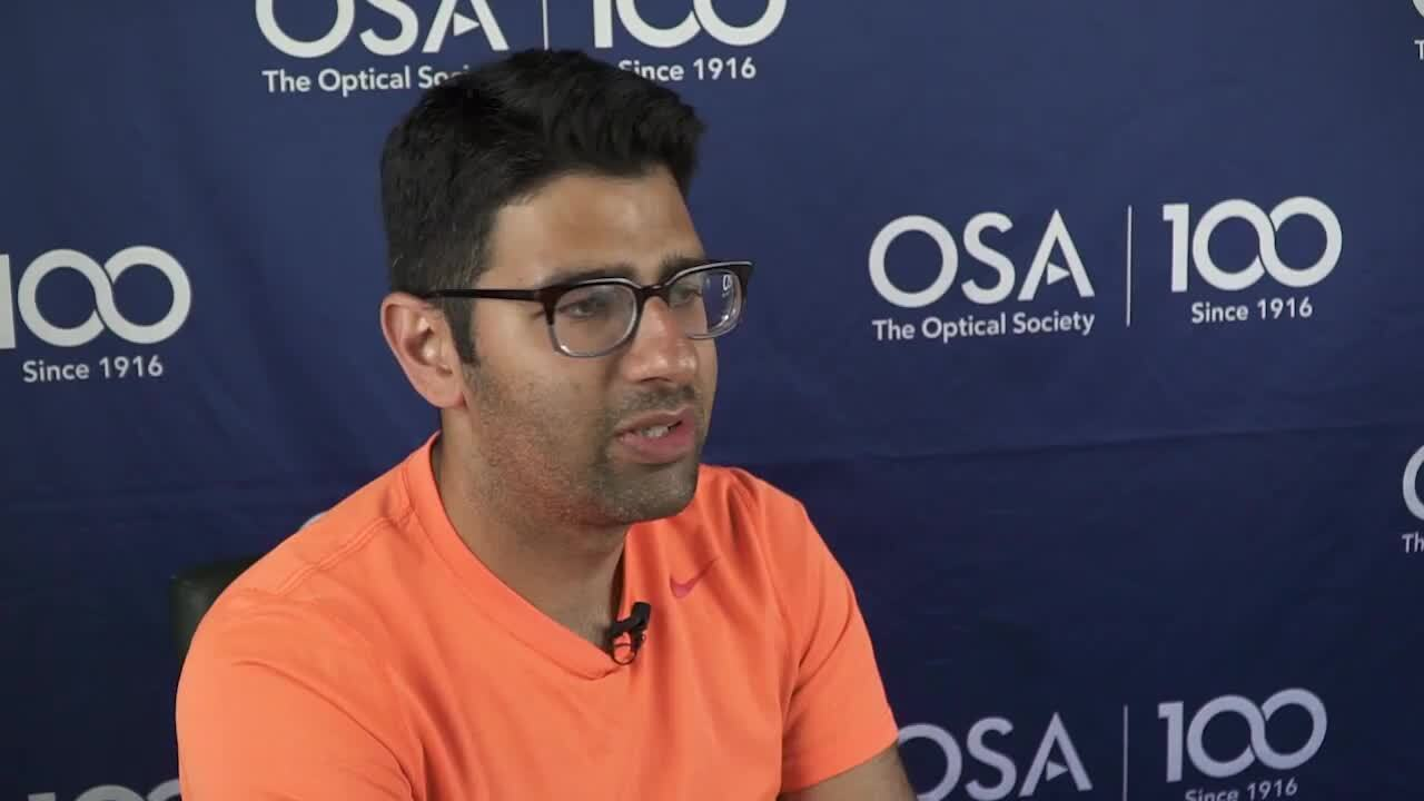 Milad Alemohhamad discusses the Siegman School--OSA Stories