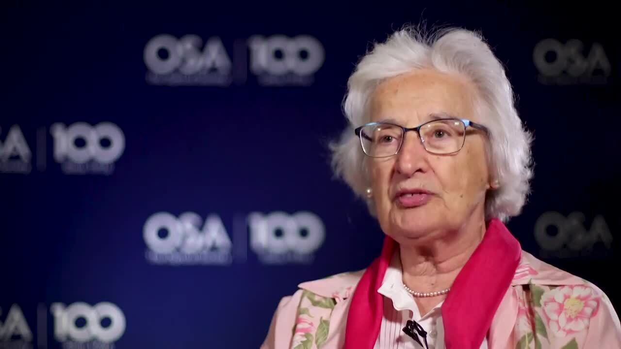 Anna Consortini shares what she has enjoyed most about her career--OSA Stories