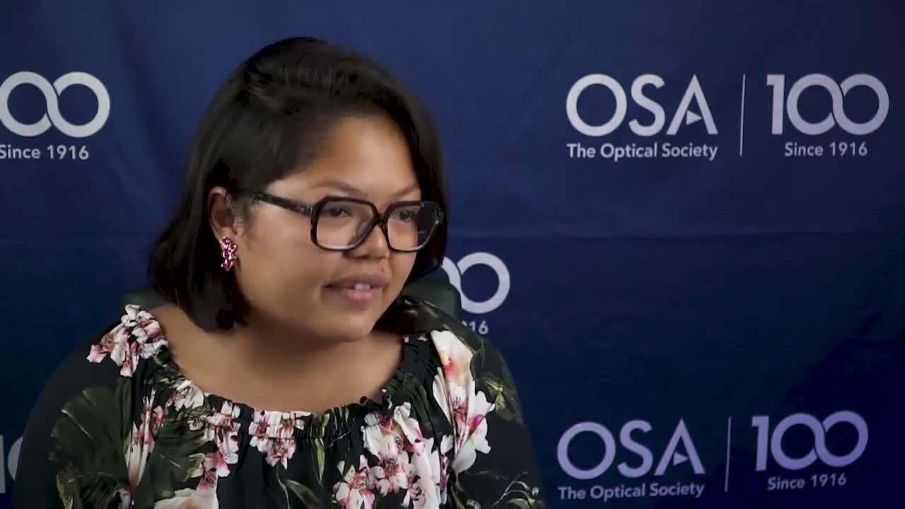 W. Y. Sarah Lau discusses OSA membership--OSA Stories