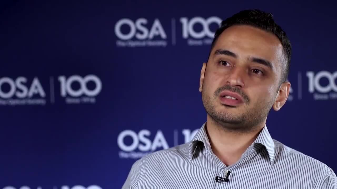 Yigit Ozan Aydin enjoys finding and discovering new things in the laboratory--OSA Stories