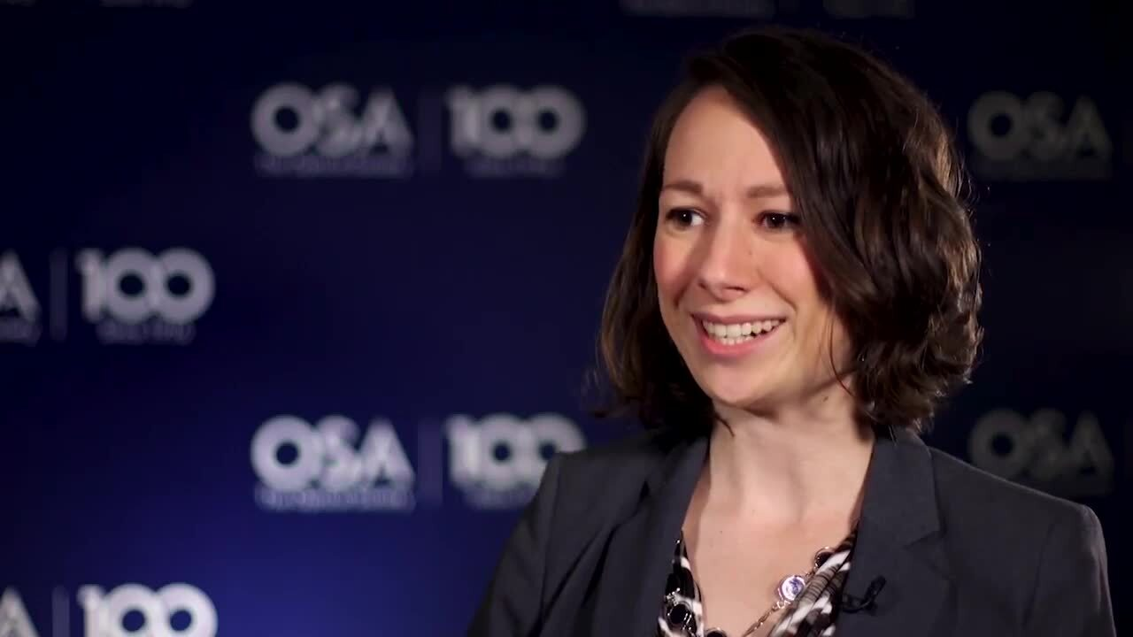 Elizabeth Lee Radue shares what she enjoys most about her research--OSA Stories