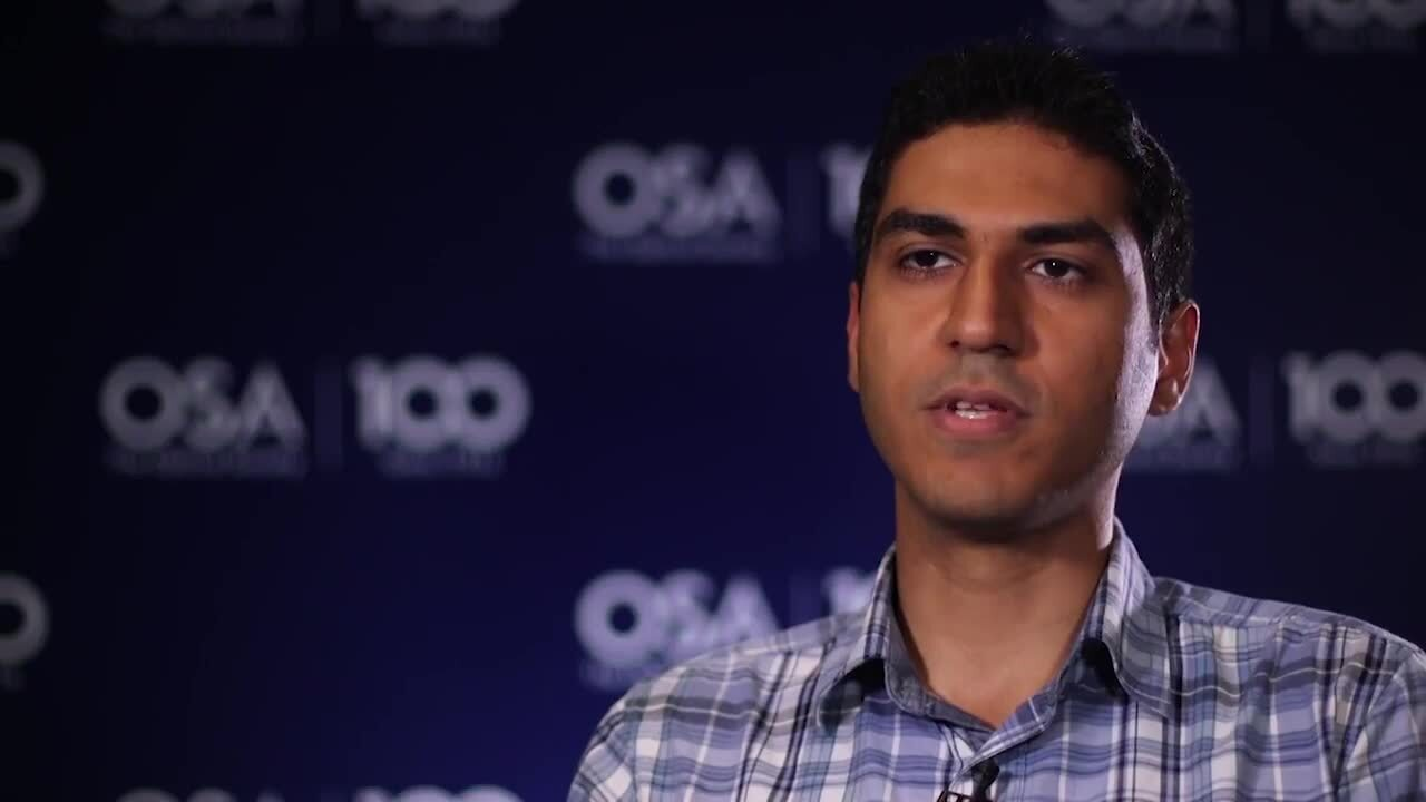 Mostafa Peysokhan discusses OSA Student Chapters--OSA Stories