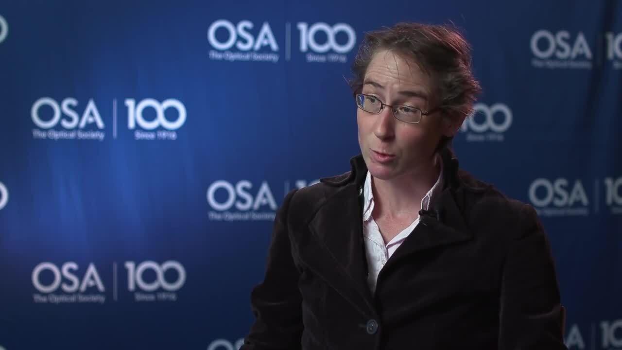 Sylvie Roke shares why she chose optics--OSA Stories