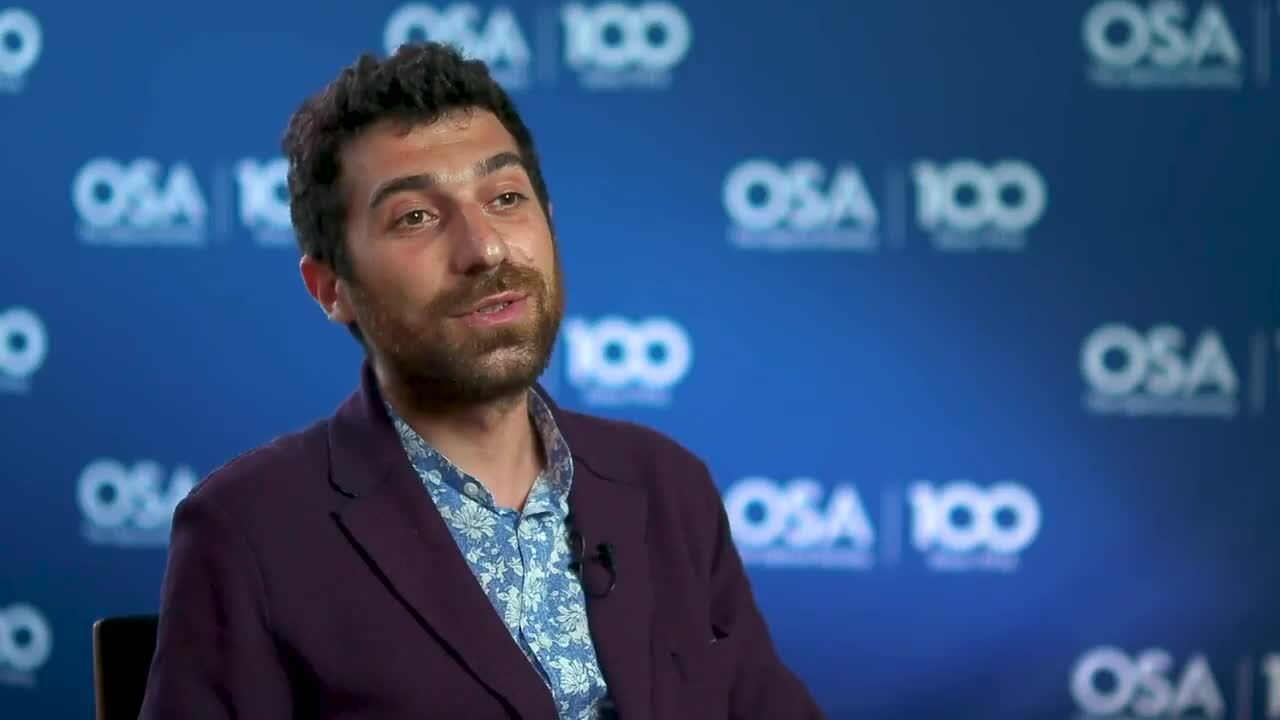 Michele Giunta discusses why he decided on optics--OSA Stories