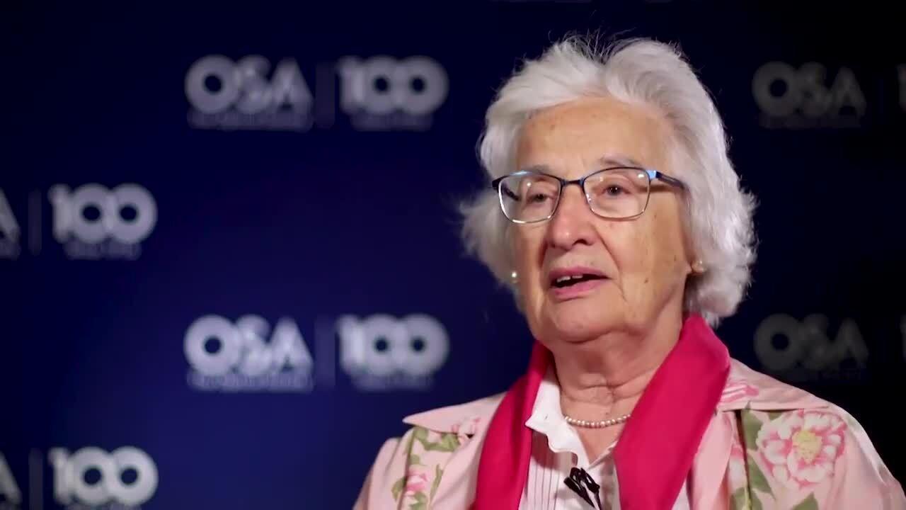 Anna Consortini recalls becoming an OSA Fellow--OSA Stories