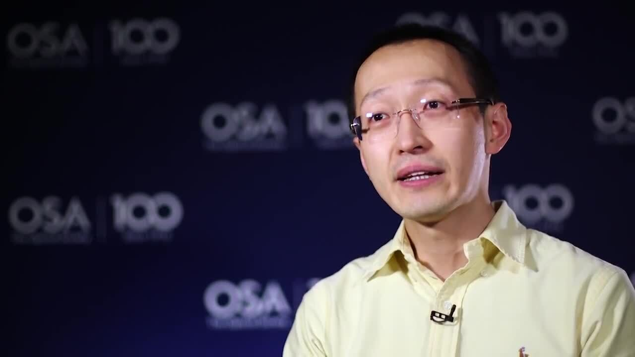 Hao Hu talks about why he chose optics--OSA Stories