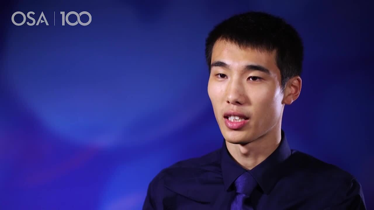 Xi Leo Wang talks about his current work--OSA Stories