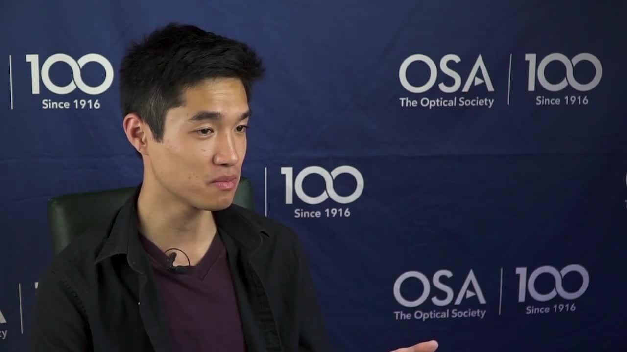 Oscar Ta siegman shares his experience at the 2018 Siegman School--OSA Stories