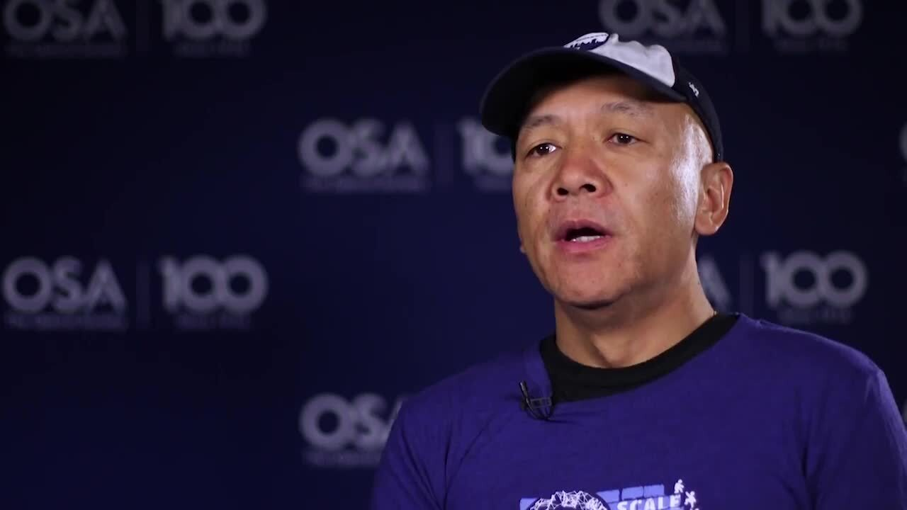 Vincent Zeng talks about optics--OSA Stories