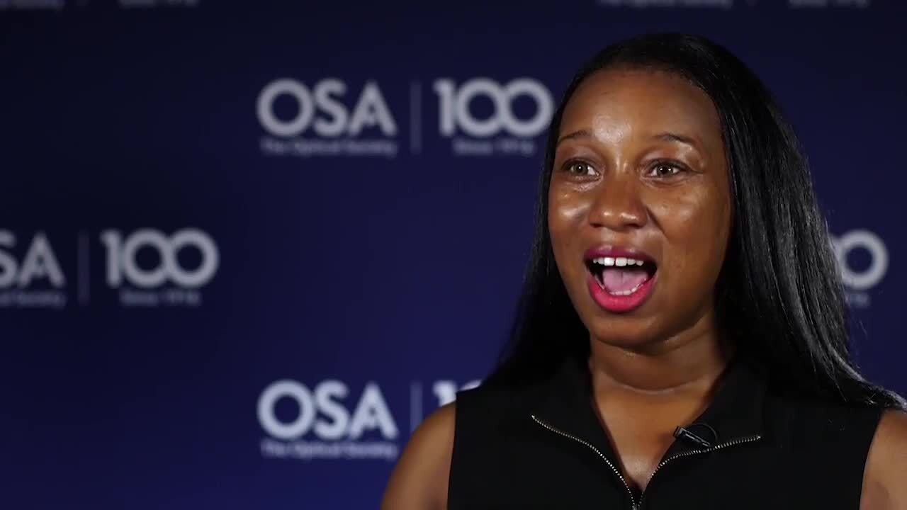 Alexis Bullock talks about why she choose her current field--OSA Stories