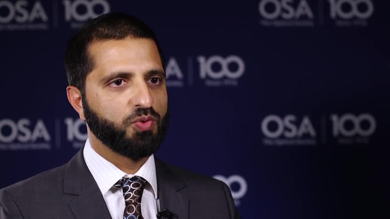 Aamir Farooq discusses his work in lasers--OSA Stories