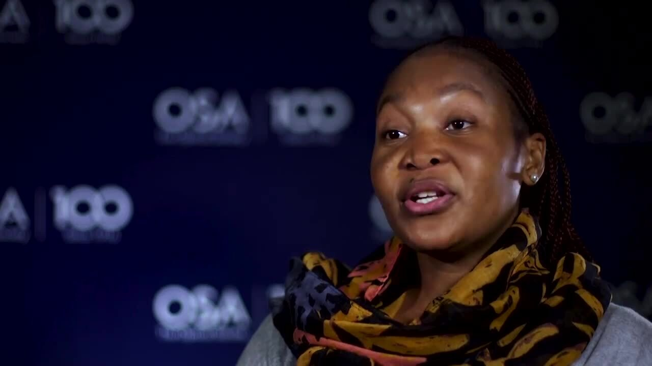 Rudzani Malabi shares what she is enjoying most about her research--OSA Stories