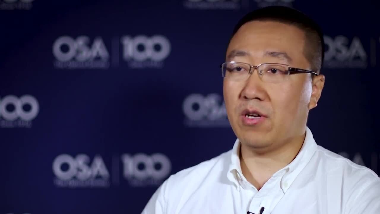 Hao Zhang shares what excites him most about his work--OSA Stories
