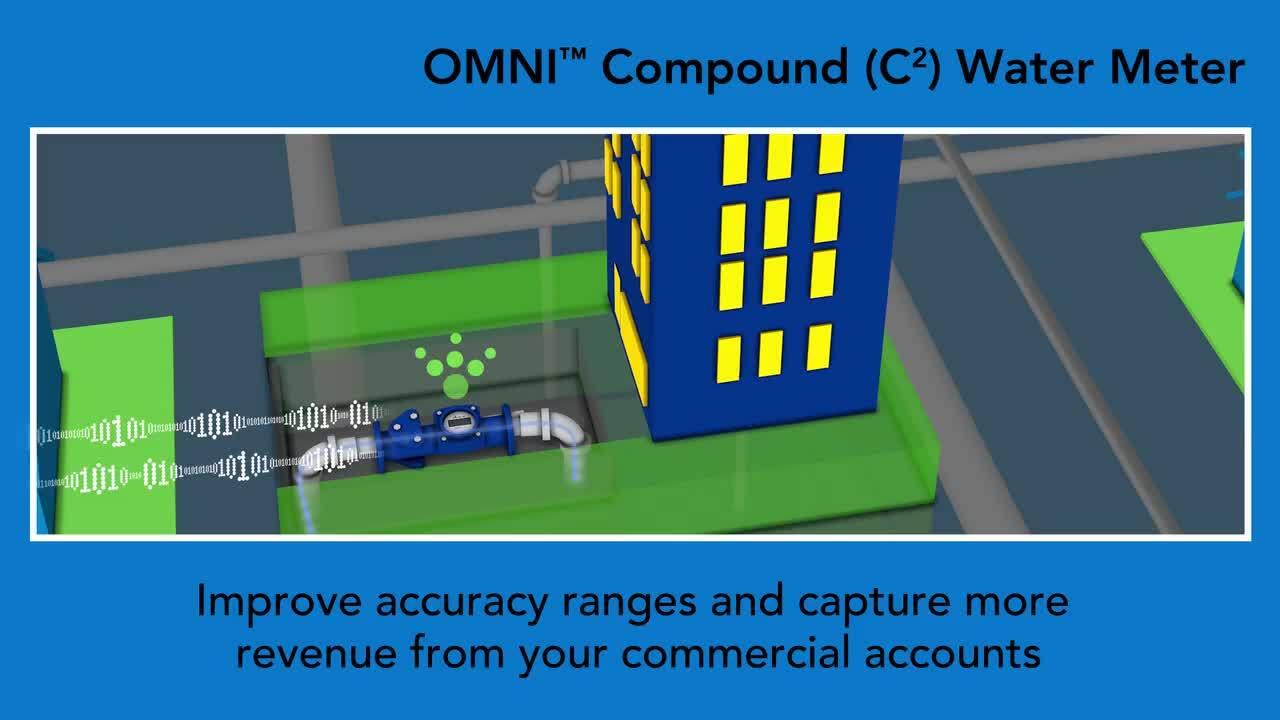 Compound Water Meter Omni C Meters Sensus Products Diagram