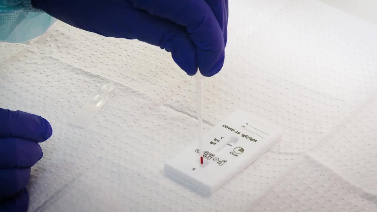 CVS MinuteClinic COVID-19 antibody testing B-roll