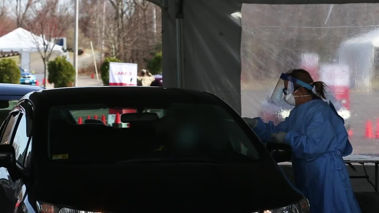 CVS Health — Media gallery — Rhode Island COVID-19 rapid testing location B-roll