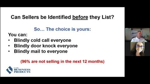 Can Sellers Be Identified BEFORE They List