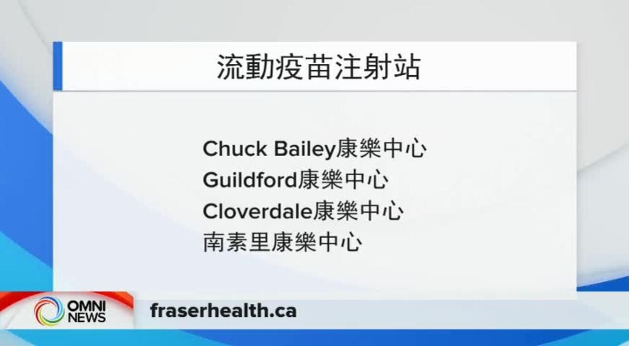 菲沙衛生區 溫哥華沿岸衛生區 設多個疫苗注射點 (BC) – JUNE 23, 2021
