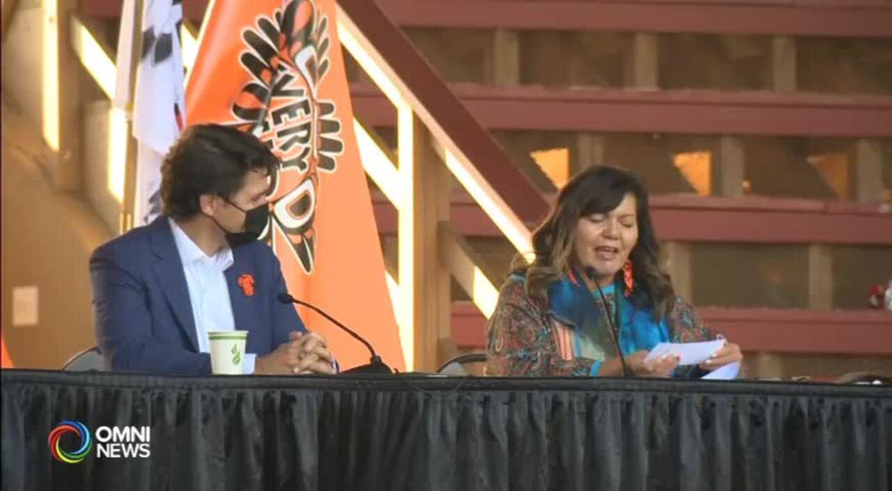杜魯多到訪Kamloops與原住民部族見面 (BC) – 2021OCT18