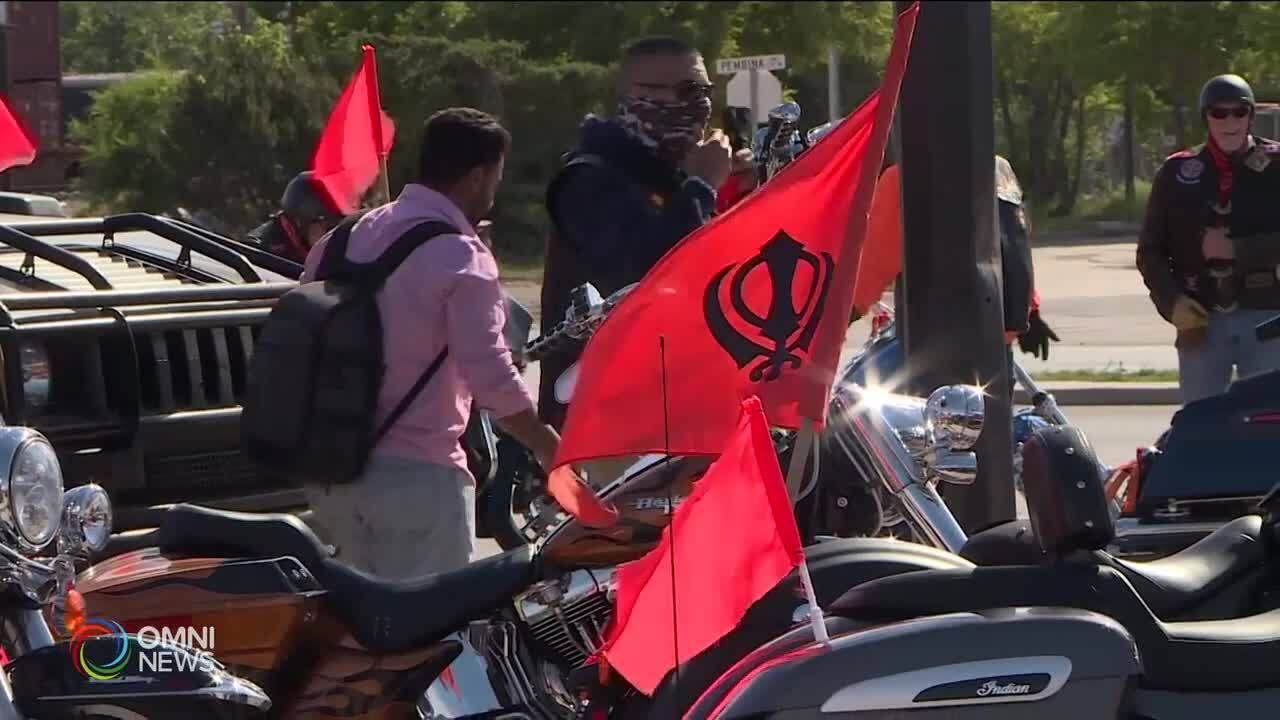 Motorcycle solidarity rally