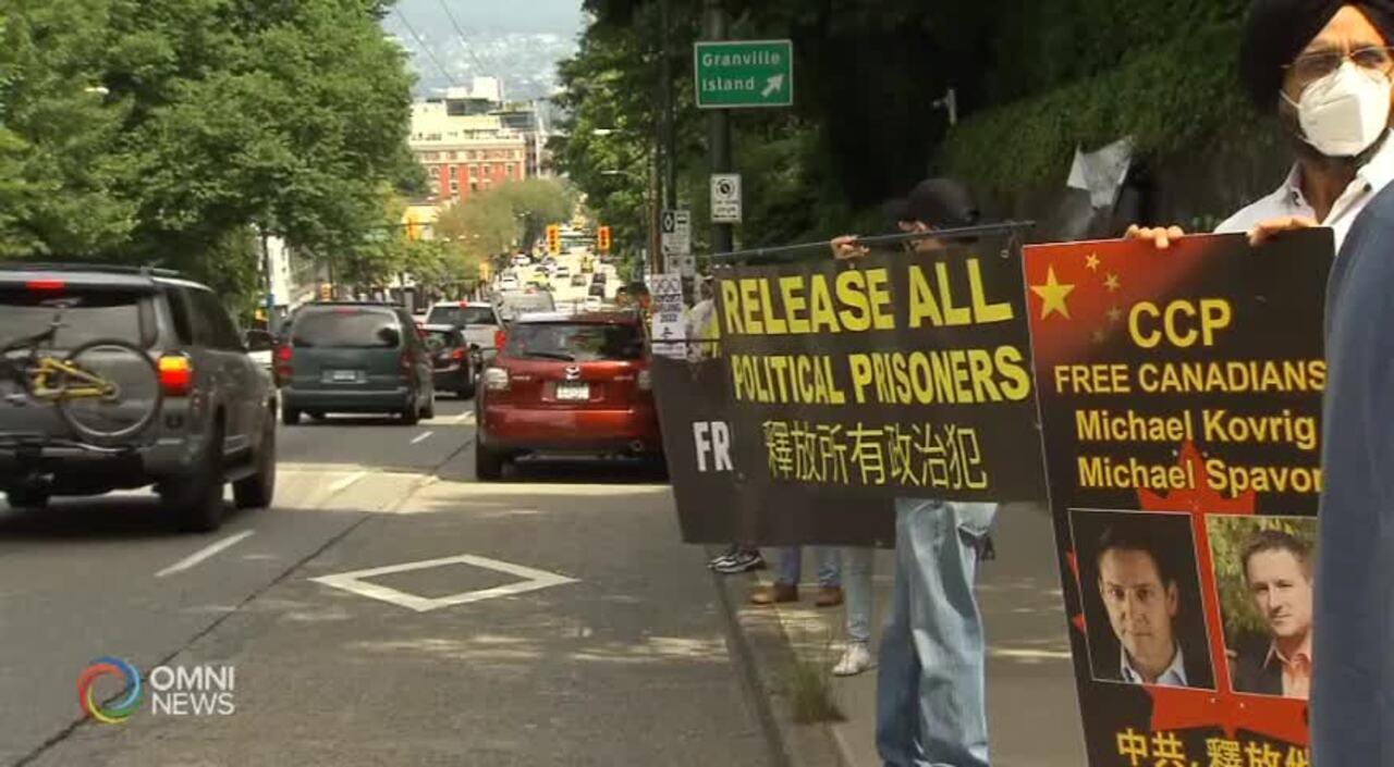 示威呼籲杯葛2022北京冬奧 (BC) – JUNE 23, 2021
