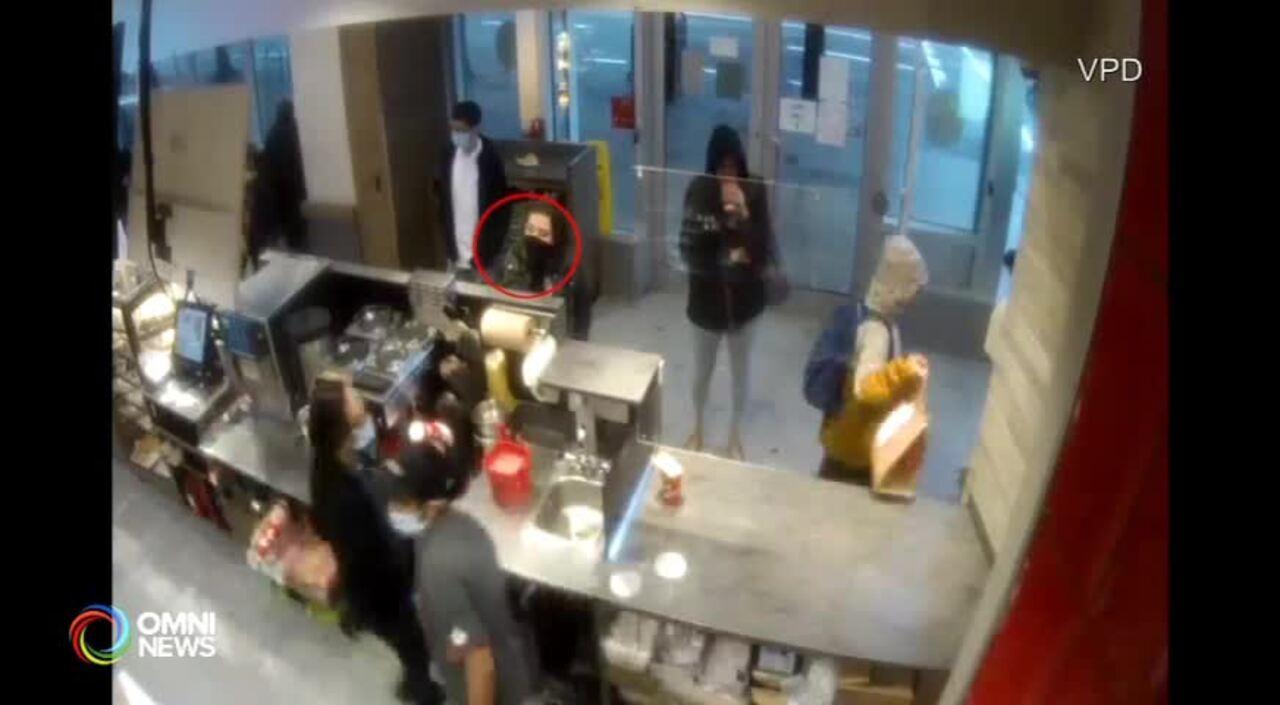 溫市咖啡店員遭人潑咖啡 不排除涉及仇恨 (BC) –  OCT 22, 2021