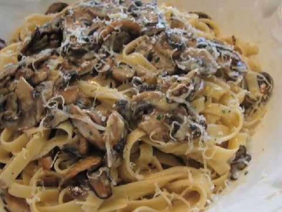 Creamy Mushroom Pasta Video Allrecipes Com
