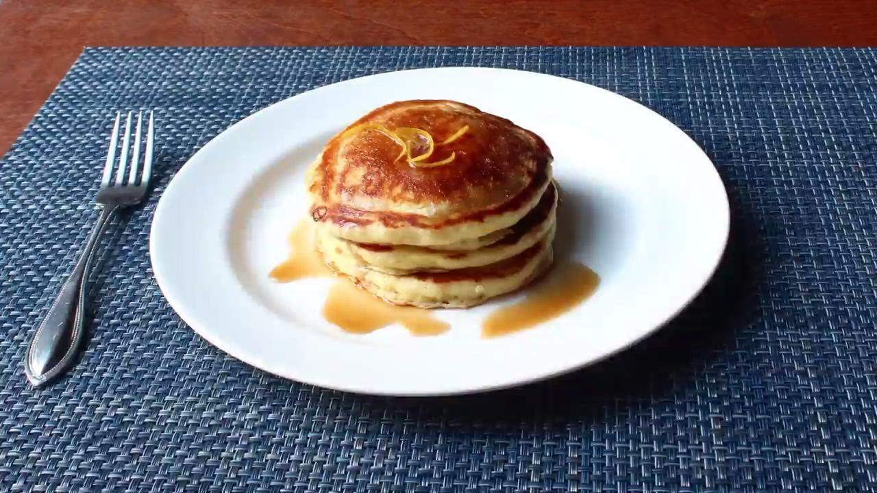 lemon ricotta pancakes video