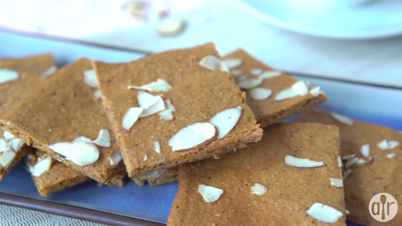 easy almond thin cookies video