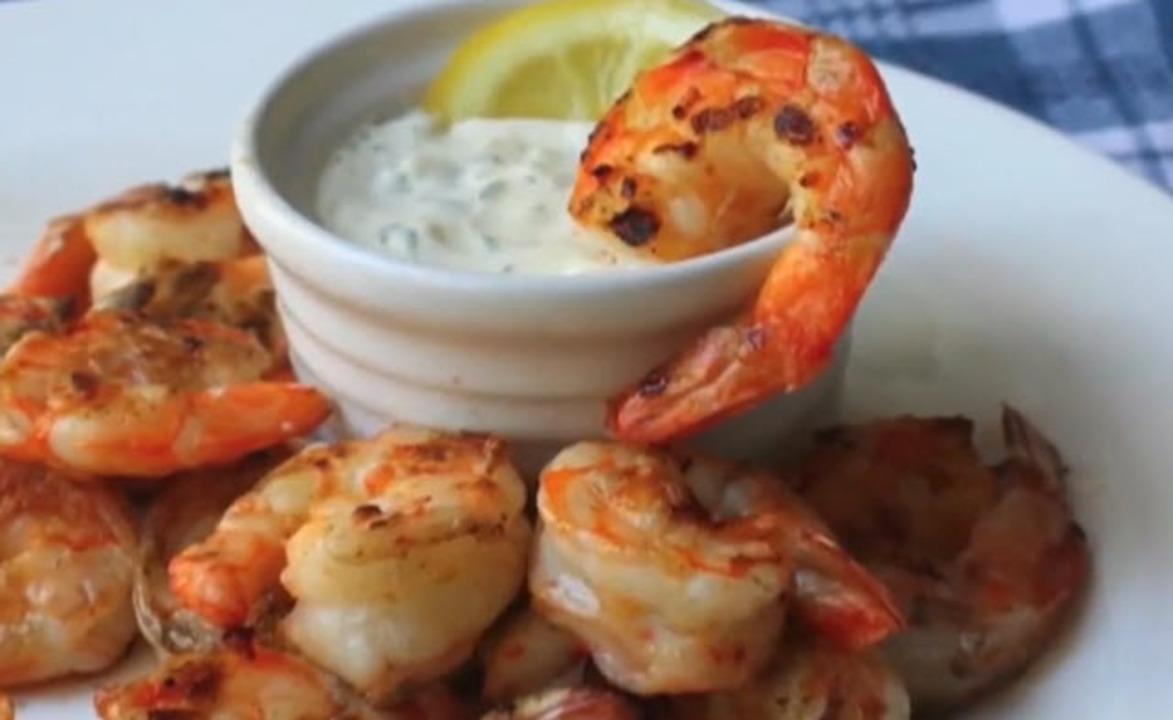grilled shrimp with lemon aioli video