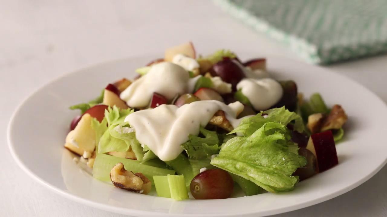 layered waldorf salad video